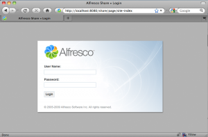 Alfresco login